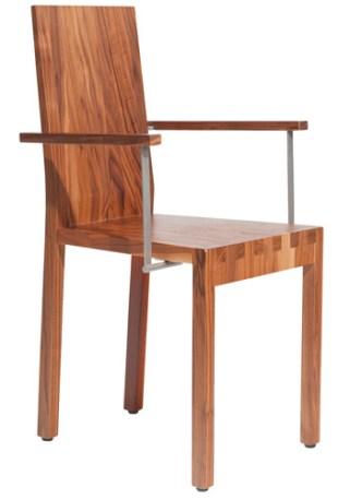 Stuhl Holz-Metall