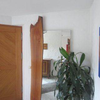 Spiegel mit Holzapplikation Birnbaum