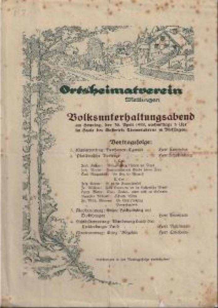 Erstes Programm 1922