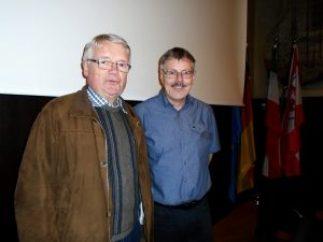 Dr Andreas Eiynck (rechts) mit Manfred Assmann