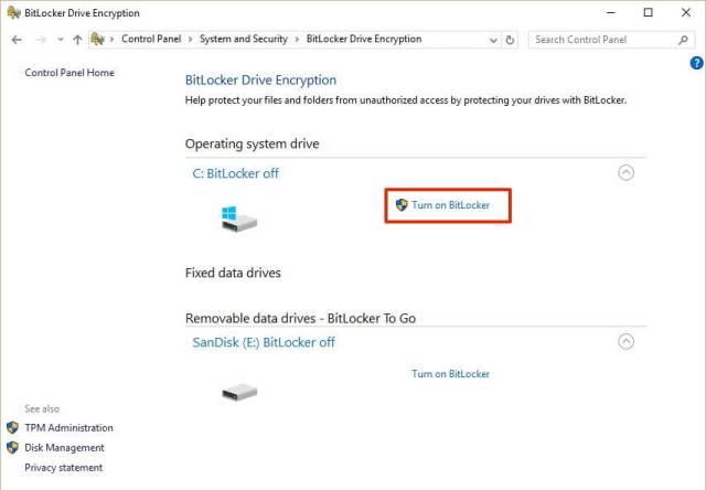 Bitlocker for Windows 10 1