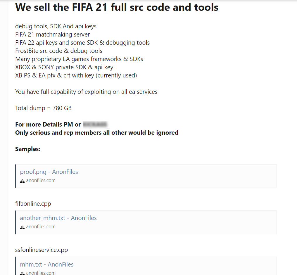 EA data theft