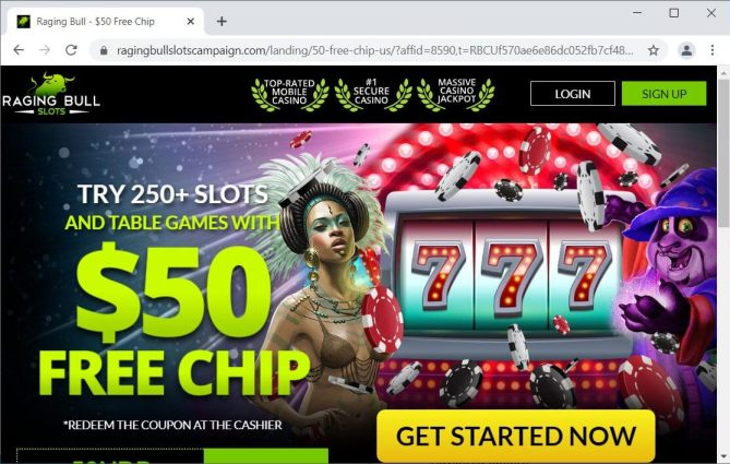 Online Casino site with affiliate ID in the URL