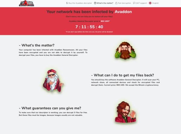 avaddon ransomware 2