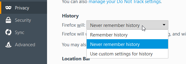 private browsing firefox with tracking protection