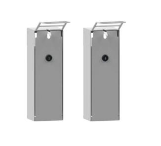 Desinfektionsmittelspender geschlossen aus Aluminium oder Edelstahl