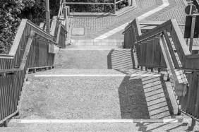 Treppe am Bahnhof Rauschwalde