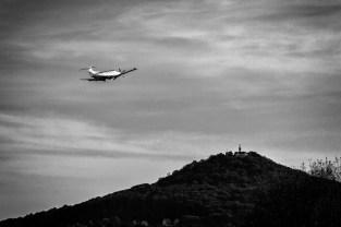 Flug Richtung Landeskrone.