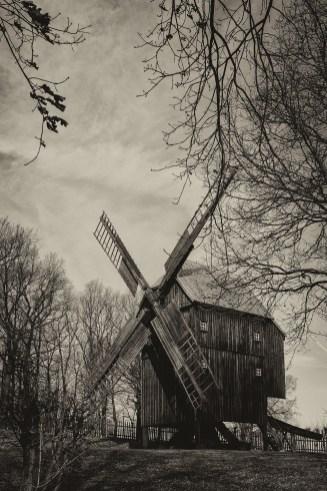 Historische Bockwindmühle Luga