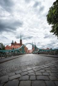 Stahlfachwerkbrücke Most Tumski in Breslau/Wroclaw