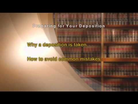 yt 9365 Preparing for Your Deposition Excerpt - Preparing for Your Deposition - Excerpt