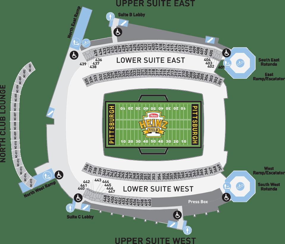 medium resolution of heinz field suites seating chart