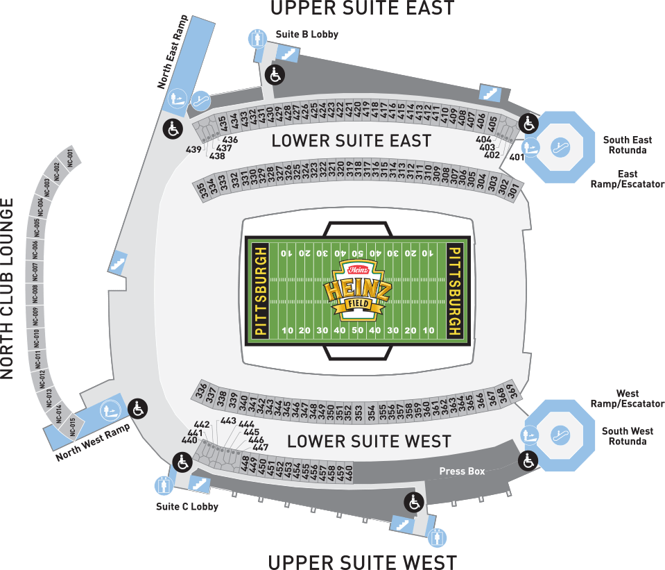 hight resolution of heinz field suites seating chart