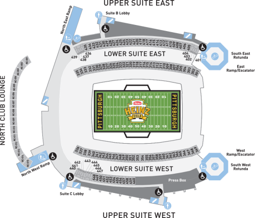 small resolution of heinz field suites seating chart
