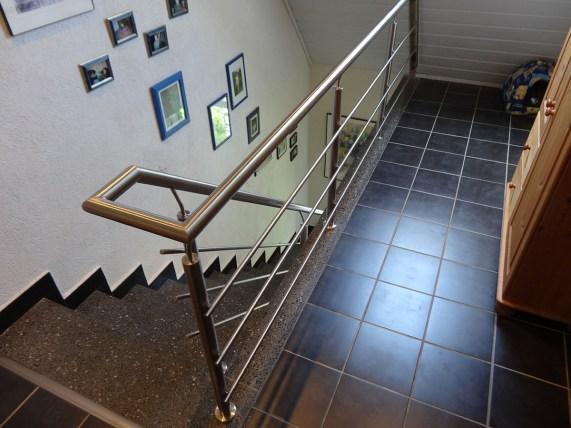 Treppengeländer, Edelstahlgeländer