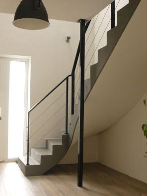 Stahlgeländer, Treppengeländer mit Edelstahlseilen