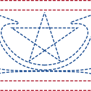 Colored Star Spangled Border
