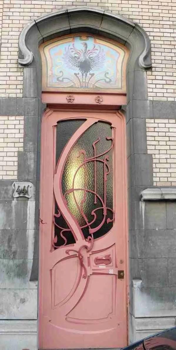 Entry door makeover -- pink door