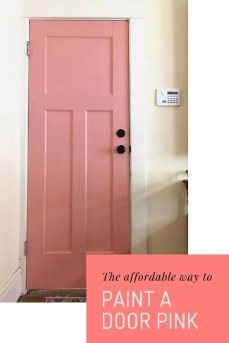 how to paint a door pink