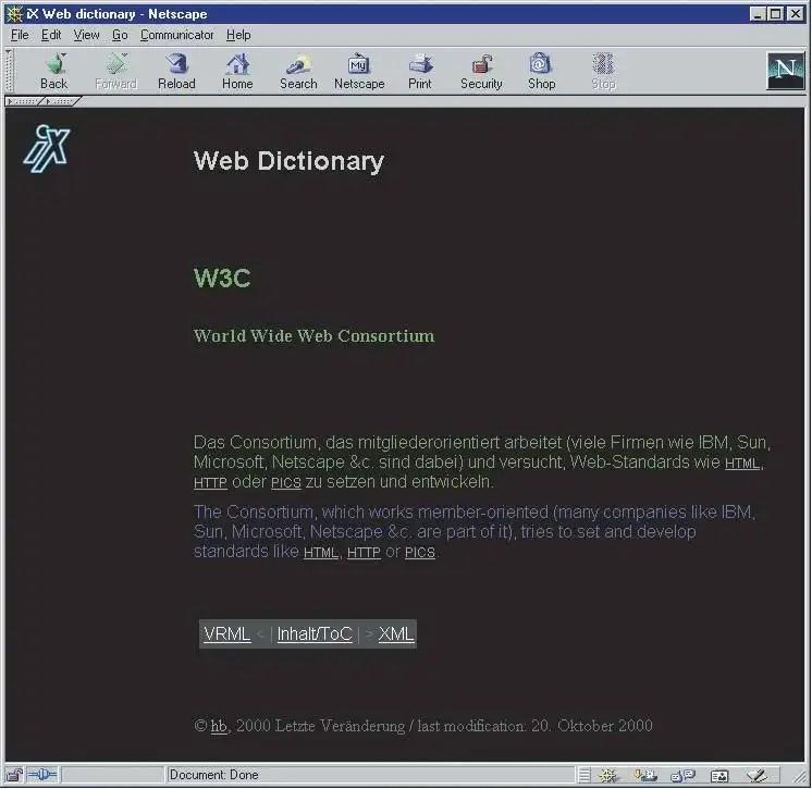 jede html seite die einen eintrag wiedergibt soll links auf den vorhergehenden und den folgenden eintrag so vorhanden enthalten und zum
