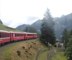 世界遺産のベルニナ鉄道