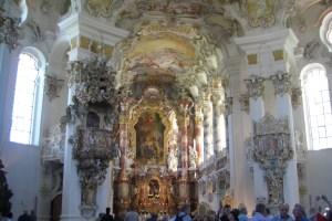ロココ様式のヴィース教会