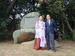 犬養記念館の岡本館長と平成芭蕉