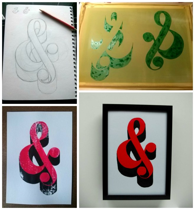 Collage Ampersand Poster