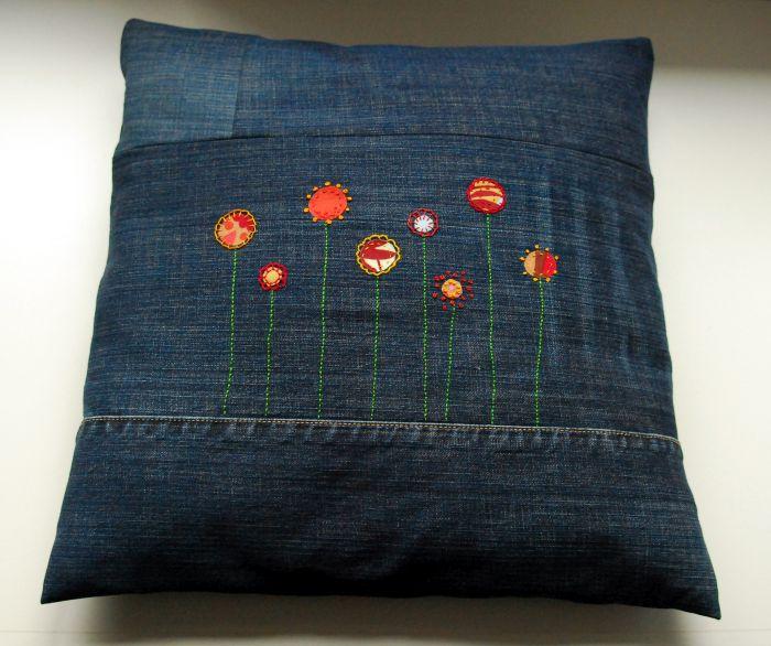diy mach aus deiner alten jeans ein gute-laune-kissen, Design ideen
