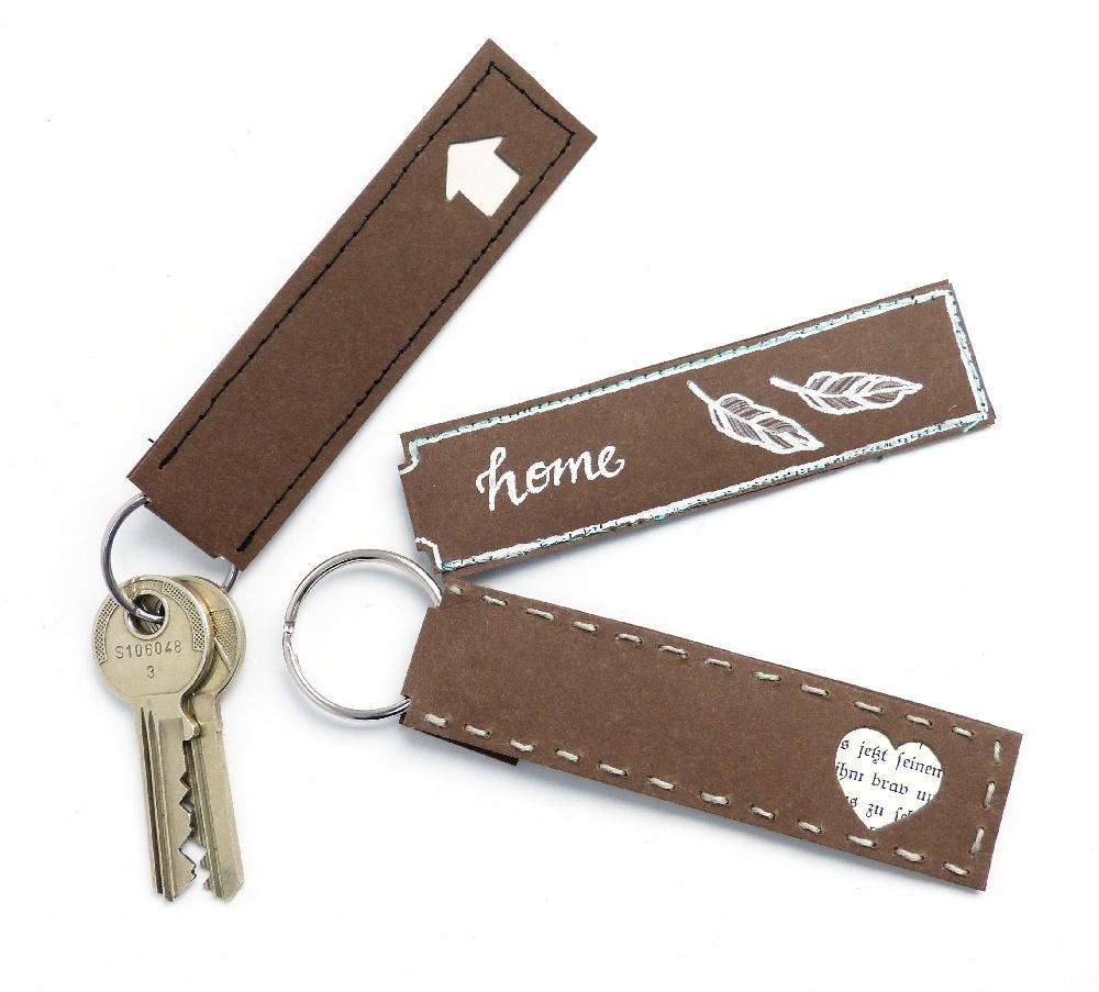 verschiedene braune Schlüsselanhänger aus snappap