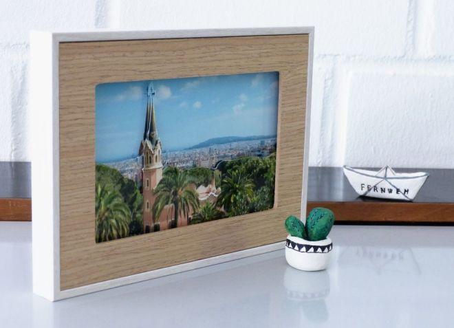 Urlaubsfoto mit 3D Effekt im Rahmen