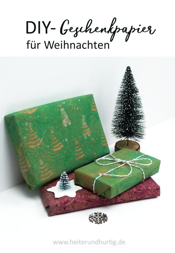 Kleisterpapier mit Weihnachtsmuster selbermachen