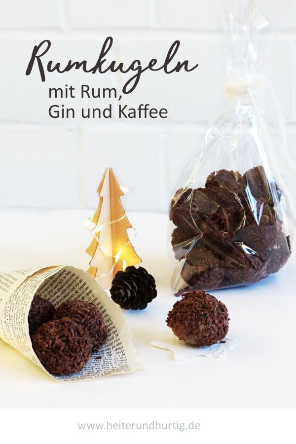 Rumkugeln mit Gin, Rum und Kaffee