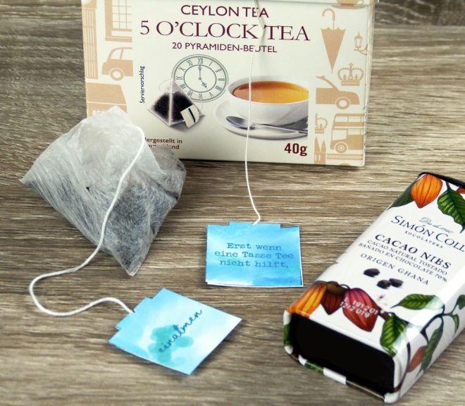 DIY Labels für Teebeutel
