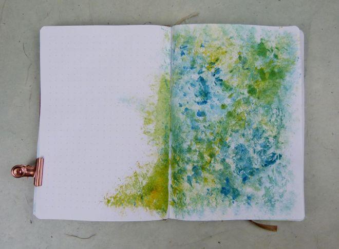 Getupfter Hintergrund fürs Art Journal