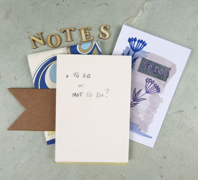 Selbstgemachter Notizblock mit To-dos