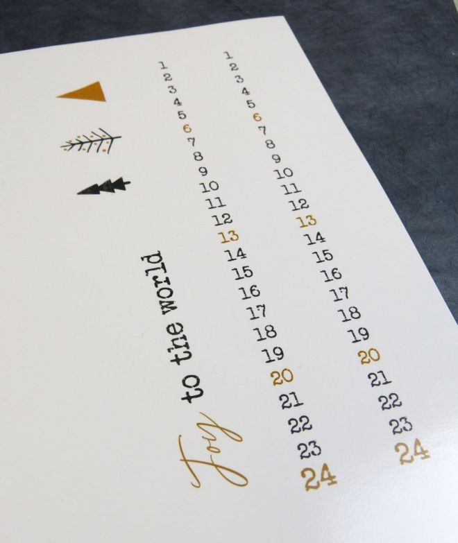 Adventskalender Kalendarium ausgedruckt