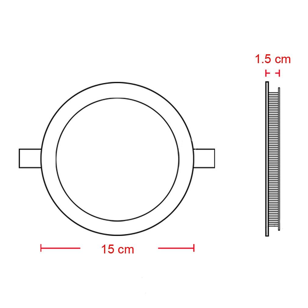 Heitex ® System-Spanndecken   Einbaustrahler Led, 150Mm Lichtfarbe