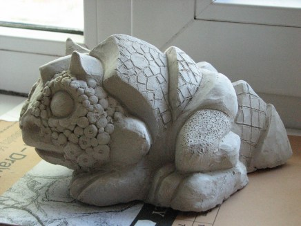 Toad before glazing
