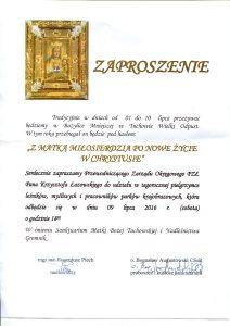 Zaproszenie msza 2016