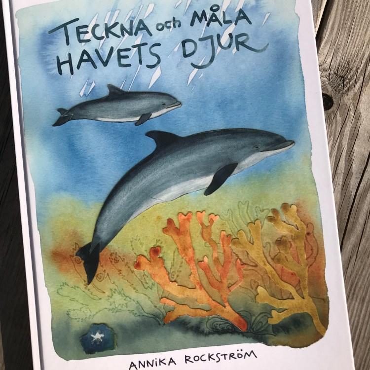 """Bild av Annika Rockströms bok """"teckna och måla med havets djur"""""""