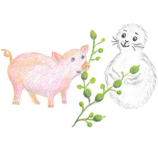 Noriko påäventyr i tången: Noriko och knöltång, även kallad gristång. Ascophyllum nodosum.