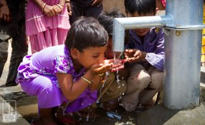 kids drinking clean water