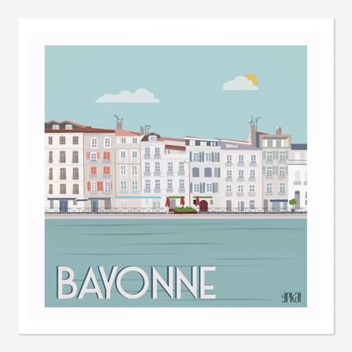 Affiche vue du petit Bayonne