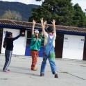 ダンスの練習中