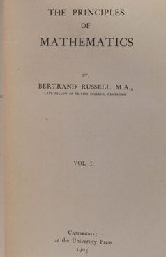 The Principles of Mathematics by Bertrand Russell