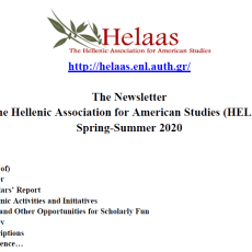 Helaas Newsletter Spring-Summer 2020 – Now available!