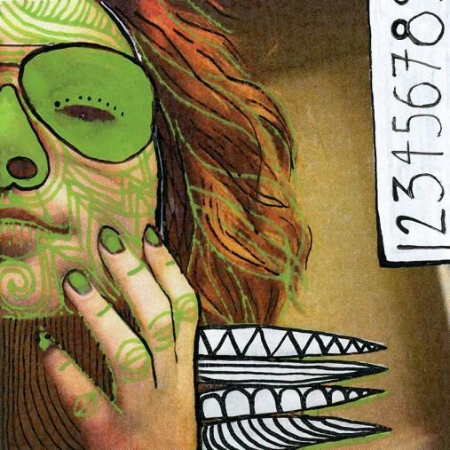 Samantha's photos- technique mixte sur impression numérique sur papier - 7x7cm - 2015 (3)
