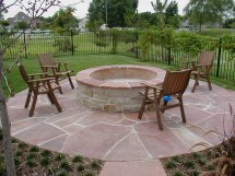 Backyard Landscaping Ideas With Concrete Firepit