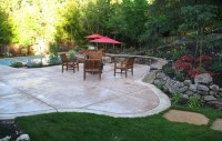 Backyard Stamped Concrete Patterns Design Ideas With ...